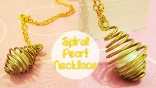 [Sunny DIY] Spiral Pearl Necklace DIY - YouTube