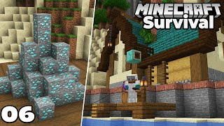 Let's Play Minecraft Survival : Fishing Docks and Diamond Mining! Episode 6