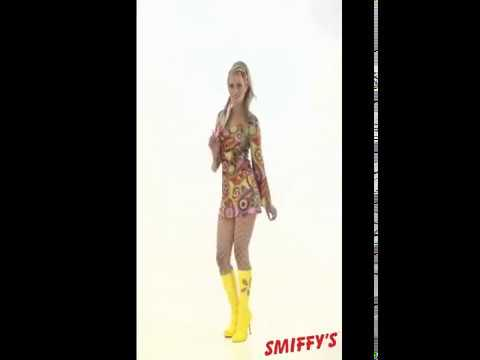 Déguisement Hippie Multicolore pour Femme plusieurs tailles