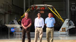 NASA And The Media Welcome Orion Home To KSC After Its EFT-1 Test Flight