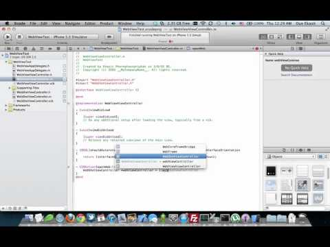 IOS Tutorial : UIWebView And UINavigationController On…