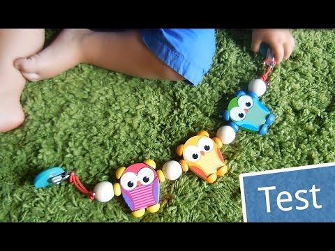 Test: Hess Kinderwagenkette aus Holz - Eulen | Babyartikel.de