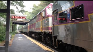 Needham (MA) United States  city pictures gallery : Rare MBTA Trains in Needham, MA Including a Double Draft Set