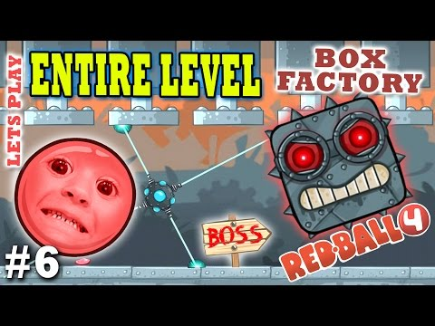 Chase & Dad play RED BALL 4! BOX FACTORY ENTIRE LEVEL w/ BOSS! (THE END Part 6 Gameplay)