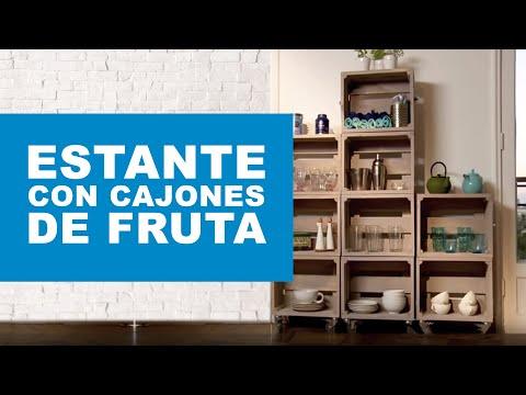 C mo hacer un estante con cajones de fruta - Estante con cajon ...