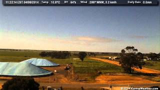 4 August 2014 - East Facing WeatherCam Timelapse - KanivaWeather.com