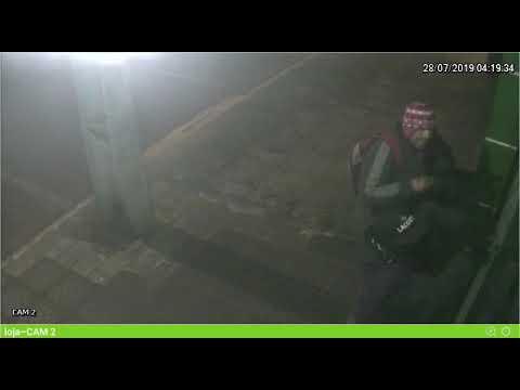 Terra Roxa - Após furto em relojoaria, PM pede auxilio para identificar criminosos.