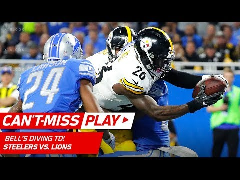 Video: Big Ben's Bomb to Antonio Brown Sets Up Le'Veon Bell's Juking TD! | Can't-Miss Play | NFL Wk 8