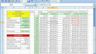 Excel Magic Trick # 254: Data Table Creates 100 Formulas