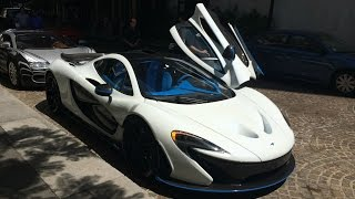 Some more video of this drop dead gorgeous MSO McLaren P1! The valet driver at the Beverly Wilshire hotel was having some trouble getting the car into drive....