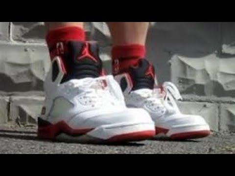 2006 Air Jordan Fire Red 5 Sneaker Review W/ Dj Delz