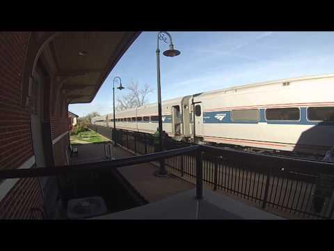 Combined Amtrak Exhibit Train and Missouri River Runner #314