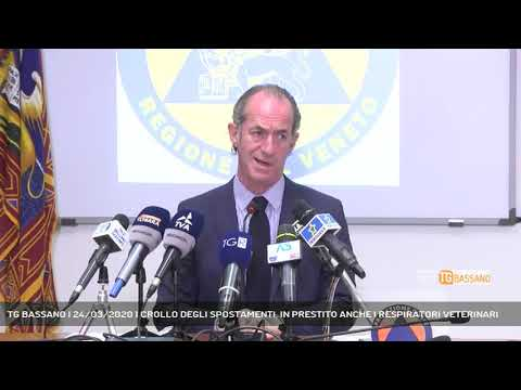 TG BASSANO | 24/03/2020 | CROLLO DEGLI SPOSTAMENTI, IN PRESTITO ANCHE I RESPIRATORI VETERINARI