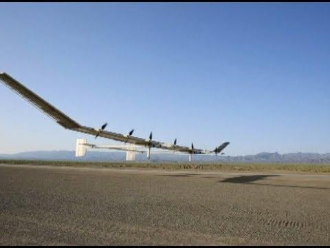 Valtava aurinkovoimalla lentävä lennokki nousee 20km korkeuteen