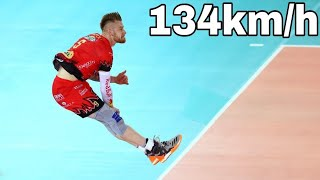 New World Record !? Ivan Zaytsev Serve 134 Km/h | Volleyball Nations League