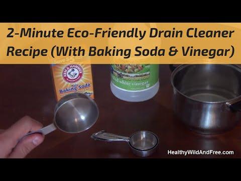 How To Unclog A Drain (Using Baking Soda & Vinegar)
