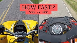 7. RENEGADE 500 VS OUTLANDER 800 SPEED COMPARISON