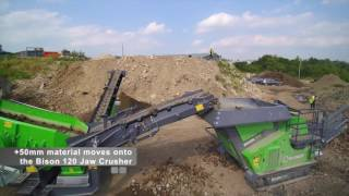 EvoQuip Bison 120 mobile jaw crusher and the Colt 800 mobile screen