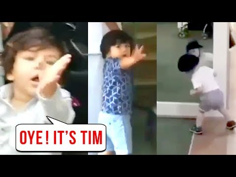 Taimur Ali Khan Plays With His Mirror Reflection,