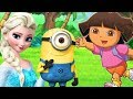 Nickelodeon Dora The Explorer Minions Bob Kevin & Stuart Save Frozen Queen Elsa Storytime Adventure