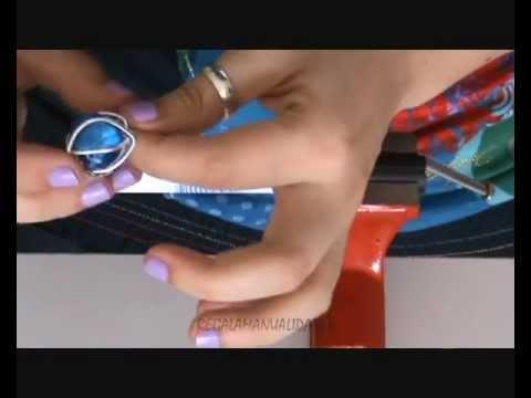 Cómo hacer anillo de alambre con piedra (wire ring with stone)