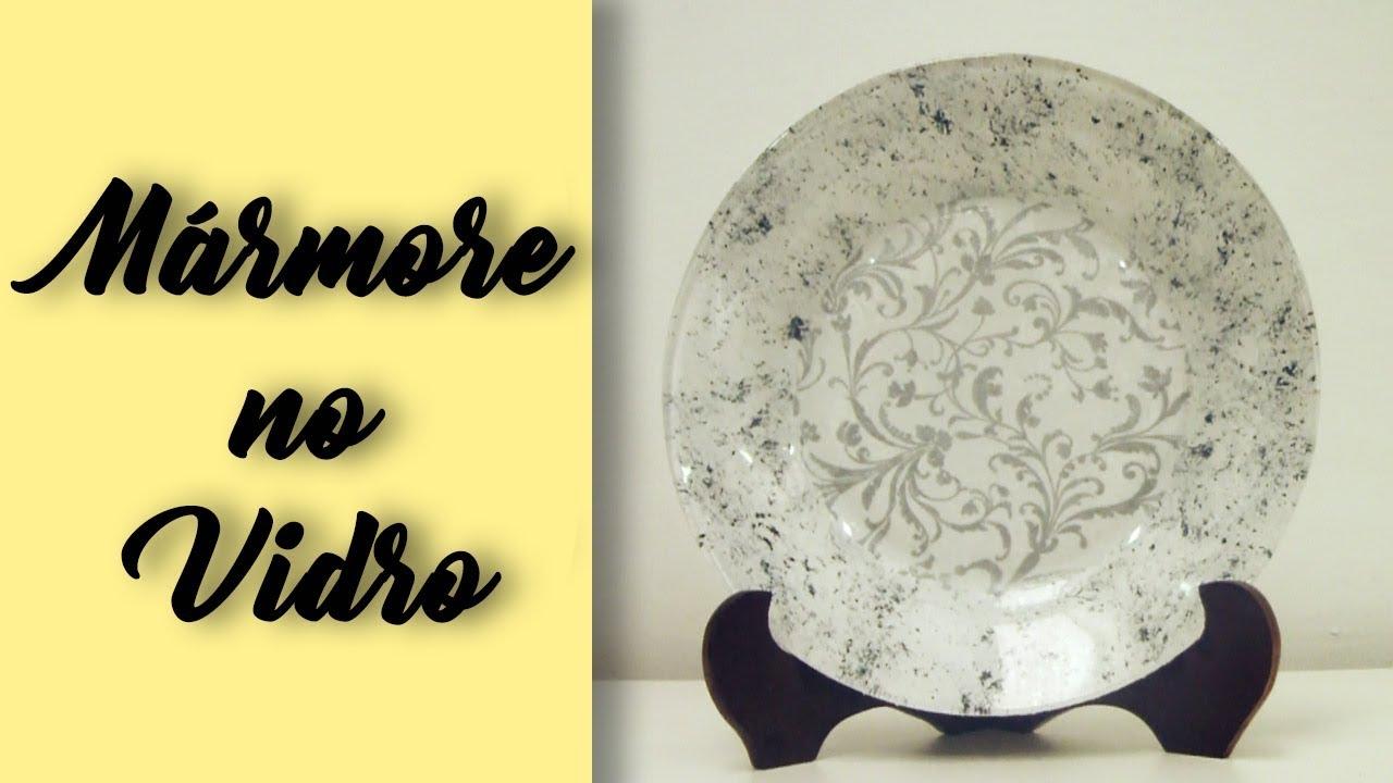 DIY | Efeito Mármore no Vidro