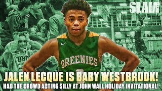 Jalen Lecque AKA Baby Westbrook Had The Crowd Acting Silly! | SLAM Highlights