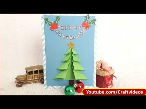 How to make very easy Christmas Tree Card