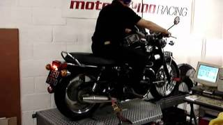 5. 2004 Triumph Bonneville on the road and Dyno