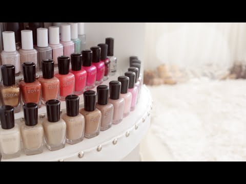 Display - DIY Nail Polish Organizer. How to make a custom 3 Tier Riser Display for your vanity top, shelf or cube shelves. Make any shape, size, or color you want! Display your nail polish collection,...
