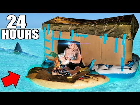 24 HOUR BOX FORT BOAT SURVIVAL CHALLENGE! 📦 (видео)