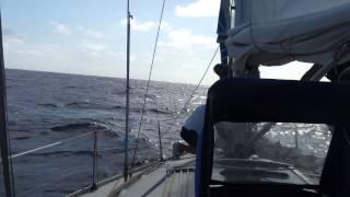 Traversata Atlantica 2012 fiocco tangonato e vele a farfalla