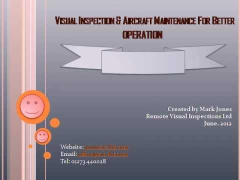 Visual Inspection & Aircraft Maintenance For Better Operation