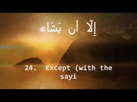 kouchay - Surah al-Kahf (The Cave) This Surah has 110 ayaat and it was revealed in Makkah. The Holy Prophet (S) has said that whoever recites this Surah will be protec...