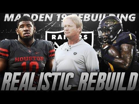 Madden 19 Franchise | Oakland Raiders Realistic Rebuild | Jon Gruden Drafts Ed Oliver!