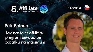 Foto z akcie Affiliate konference prednáša Petr Baloun.