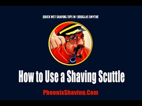 Scuttle - http://howtogrowamoustache.com/how-to-use-a-modern-shaving-scuttle-2/ Also, check out our Wet Shaving Podcast: http://moustacheandbladepodcast.com In this tu...