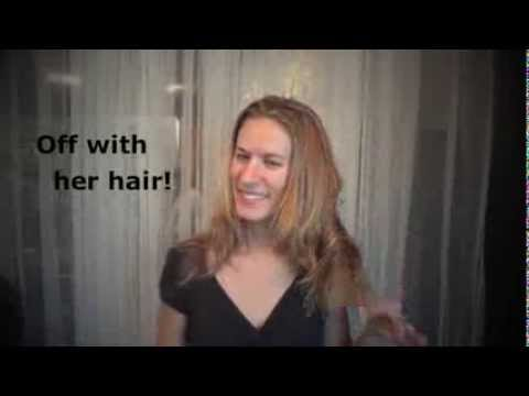 Hair MAKEOVER: raija's long blonde hair gets cut short and colored red