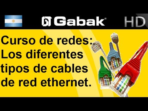Los diferentes tipos de cables de red ethernet (curso de red)