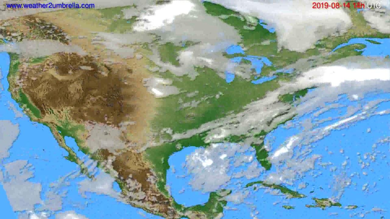Cloud forecast USA & Canada // modelrun: 00h UTC 2019-08-12