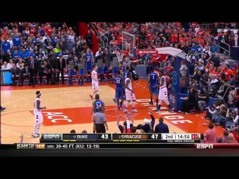 CBB 13/14 #17 Duke Blue Devils vs #2 Syracuse Orange 02/01/14 (Full Game)