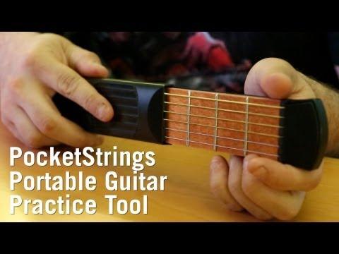 PocketStrings Portable Guitar Practice Tool from ThinkGeek