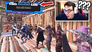 I Stream Sniped a Fortnite Fashion Show AGAIN and then donated $200... (he cried)