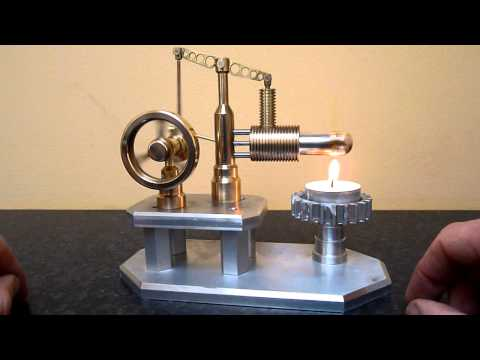 Candle powered desktop engine