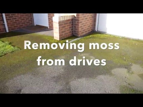 How to Remove Moss on Drives and Patios