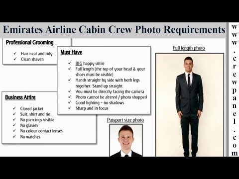 Emirates cabin crew photo requirements for males | Emirates cabin crew online assessment tips