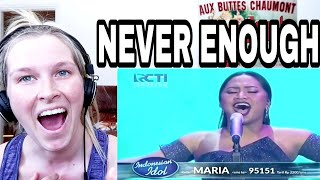 Video MARIA - NEVER ENOUGH ( INDONESIAN IDOL ) | REACTION MP3, 3GP, MP4, WEBM, AVI, FLV Juni 2018