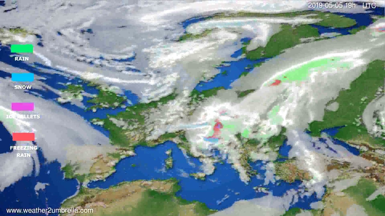 Precipitation forecast Europe // modelrun: 12h UTC 2019-05-02