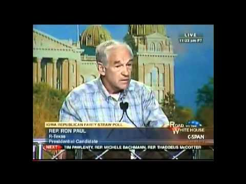 Ron Paul Life - http://www.ronpaul2012.com/ excerpt from the Iowa Straw Poll Speech 8/2011.