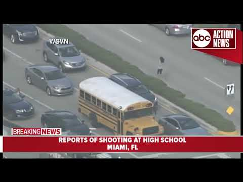 Students escorted out of school after reports of active shooter at high school near Miami, Florida